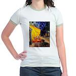 Cafe & Dachshund Jr. Ringer T-Shirt