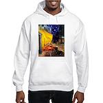 Cafe & Dachshund Hooded Sweatshirt