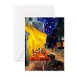 Cafe & Dachshund Greeting Cards (Pk of 10)