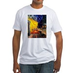 Cafe & Dachshund Fitted T-Shirt