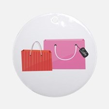 Shop Bags Ornament (Round)