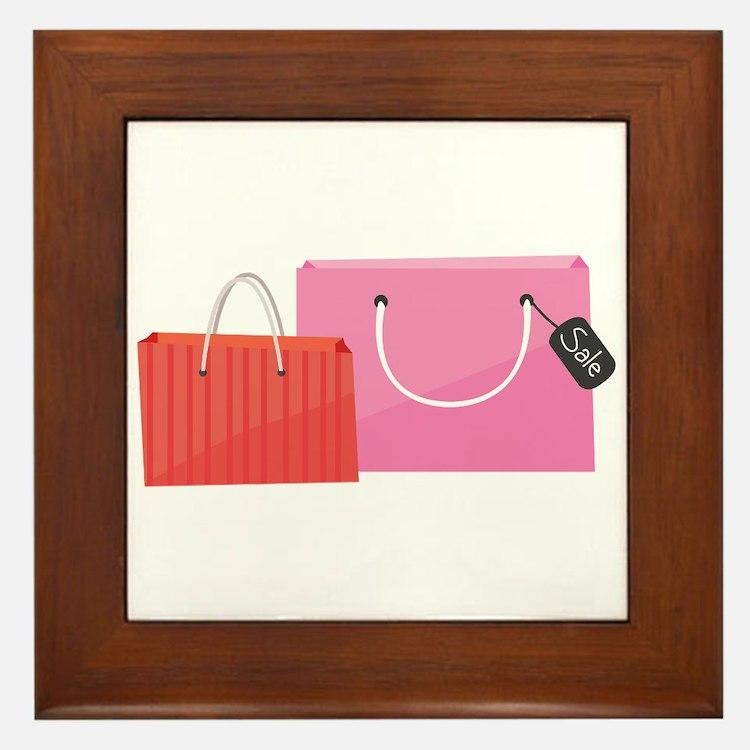 Shop Bags Framed Tile