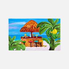 Tiki Beach Bar And Banana Tree, 3'x5' Area Rug