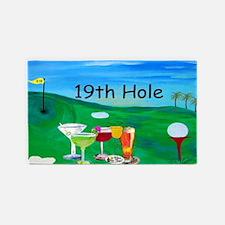 19th Hole Golf Bar Rug, 3'x 5 3'x5' Area Rug