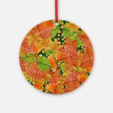Autumn foliage Ornament (Round)