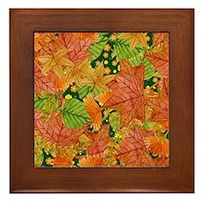 Autumn foliage Framed Tile