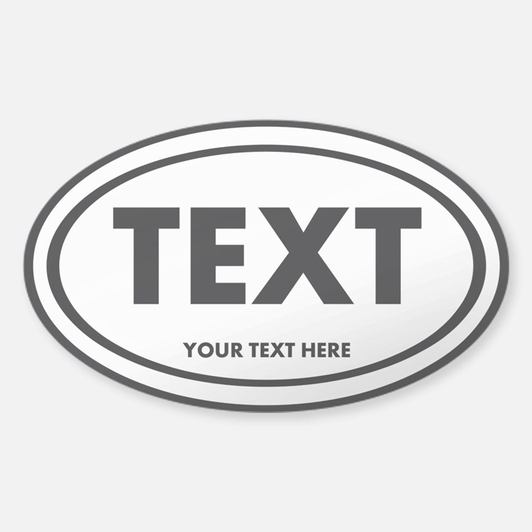 Oval Bumper Stickers Car Stickers Decals  More - Custom oval car bumper magnets
