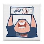 Happy 4th of July USA Tile Coaster