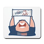 Happy 4th of July USA Mousepad
