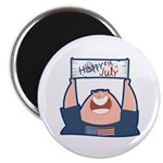 "Happy 4th of July USA 2.25"" Magnet (100 pack)"