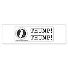 """Logo 10""""X3"""" Bumper Bumper Sticker"""