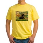 Lilies (2) & Dachshund Yellow T-Shirt
