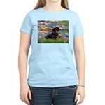 Lilies (2) & Dachshund Women's Light T-Shirt