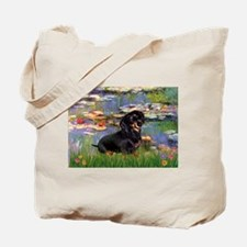 Lilies (2) & Dachshund Tote Bag
