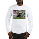 Lilies (2) & Dachshund Long Sleeve T-Shirt