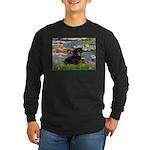 Lilies (2) & Dachshund Long Sleeve Dark T-Shirt