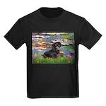 Lilies (2) & Dachshund Kids Dark T-Shirt