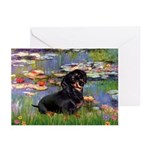 Lilies (2) & Dachshund Greeting Cards (Pk of 10)