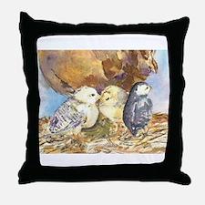 Three little chicks Throw Pillow