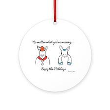 Hoppy Holidays Ornament (Round)