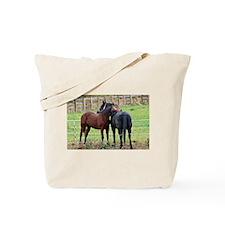 Snuggling Morgan Horses Tote Bag
