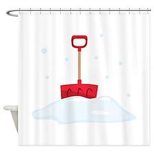Snow Shovel Shower Curtain