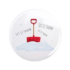 """Let It Snow 3.5"""" Button (100 pack)"""