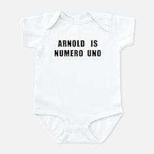 Arnold Is Numero Uno Onesie