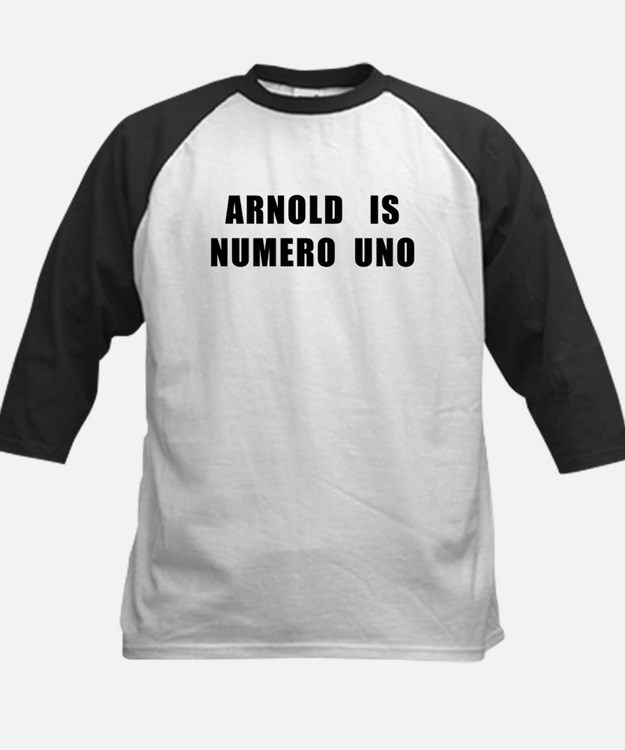Arnold Is Numero Uno Kids Baseball Jersey