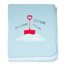 Let It Snow baby blanket