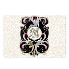 Monogram Letter M Barbier Postcards (Package of 8)
