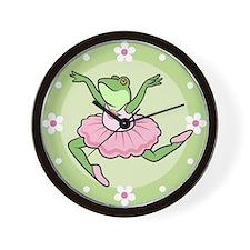 Frog Ballerina Wall Clock