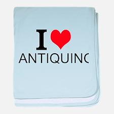 I Love Antiquing baby blanket