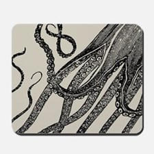 Vintage Octopus Tentacles Mousepad