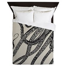 Vintage Octopus Tentacles Queen Duvet