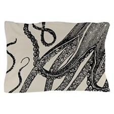 Vintage Octopus Tentacles Pillow Case
