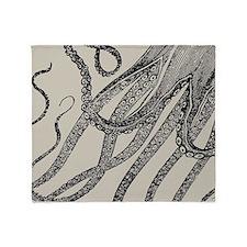 Vintage Octopus Tentacles Throw Blanket
