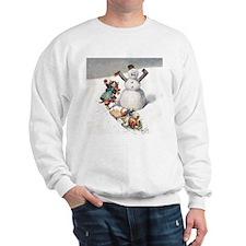 Kittens Play in The Snow Sweatshirt