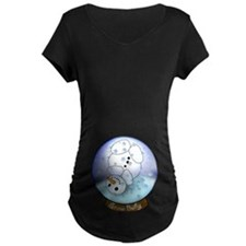 Frosty Snow Globe Baby Maternity T-Shirt