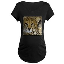 Cheetah Portrait Maternity T-Shirt