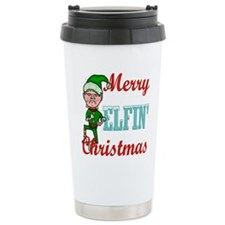 Funny Elfin Christmas Travel Mug