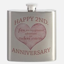 2nd Anniversary Flask