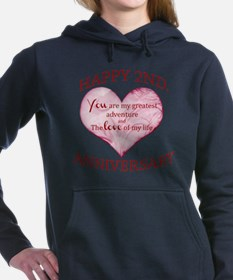 2nd Anniversary Women's Hooded Sweatshirt