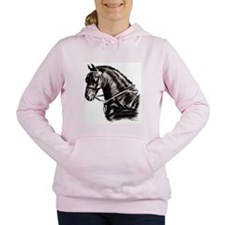 Carriage Driving Horse Women's Hooded Sweatshirt