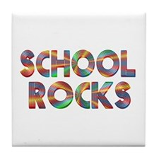 School Rocks Tile Coaster
