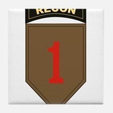 1st ID Recon.png Tile Coaster
