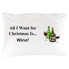 Christmas Wine Pillow Case