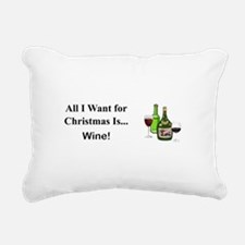 Christmas Wine Rectangular Canvas Pillow