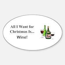 Christmas Wine Decal