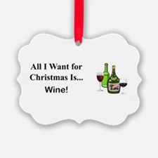 Christmas Wine Ornament
